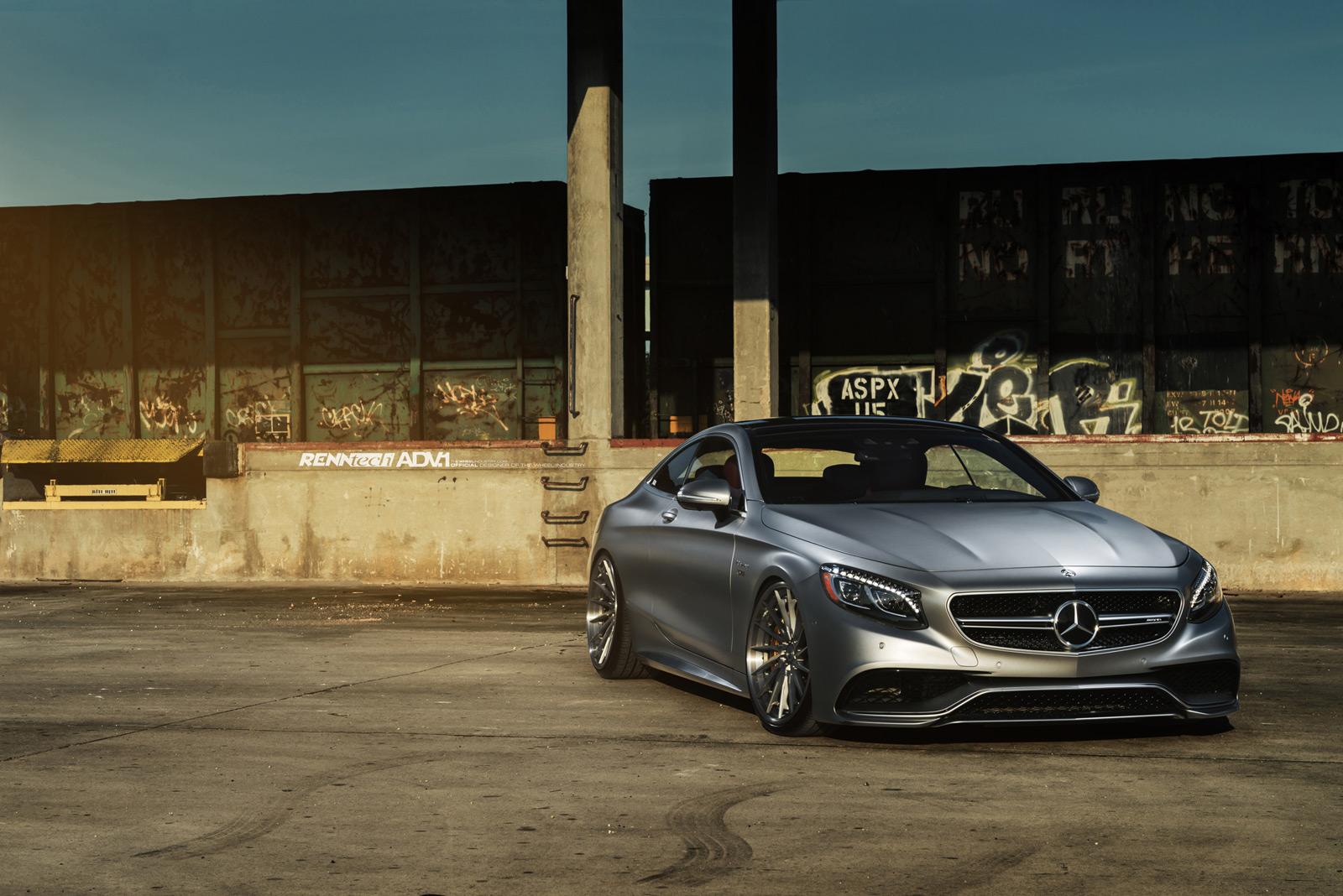 Mercedes S63 AMG Coupe + ADV.1 + RENNtech = Joli combo ...